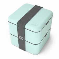 MONBENTO Square Collection Matcha - pastelowy zielony lunchbox